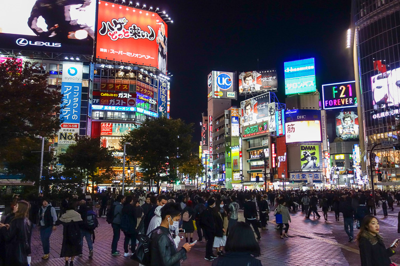 Japan-Shibuya-Guitar-Food-Curry - The worlds busiest pedestrian crossing.