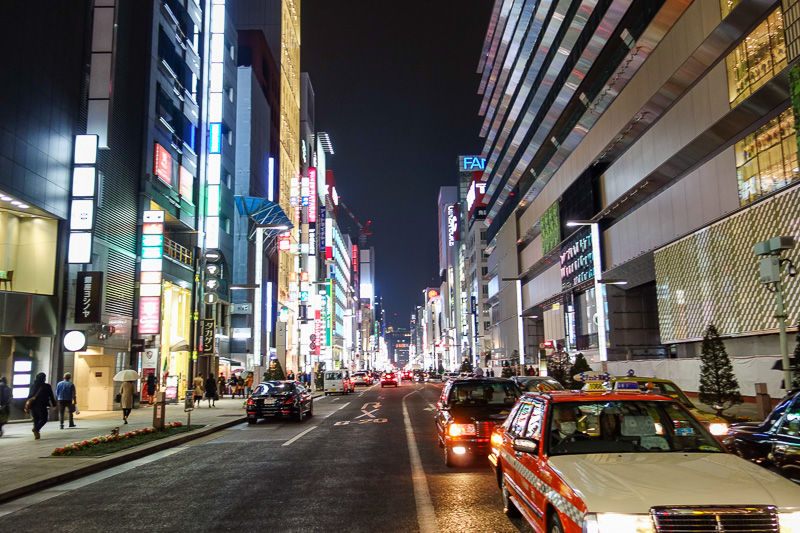 Japan-Tokyo-Ginza-Shopping Street - Last photo of the very shiny Ginza.