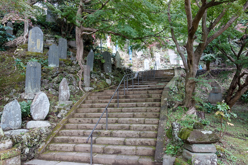 Japan-Kamakura-Hiking-Kenchoji - Climb up the stairs past the gargoyles. Also, photo number 800! A new record.