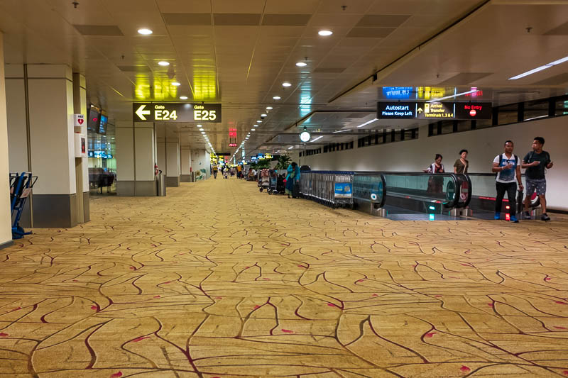 Melbourne-Singapore - Same spot looking the other way. Whoever won the carpet supply contract is rich.