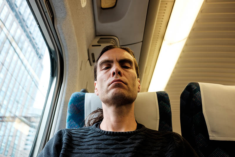 Japan-Tokyo-Shizuoka-Shinkansen - Practicing my glare, I got to use it a lot today. If you are going to try to assert your authority over me, I will shoot laser beams out of my eyes an