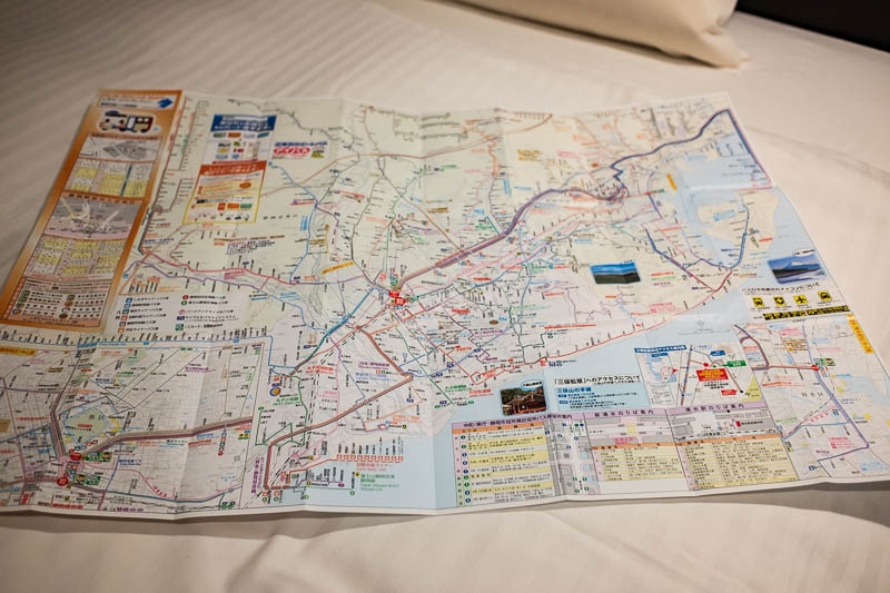 Japan-Shizuoka-Shopping Street-Food-Curry - Here is the map, its nearly as big as my bed and you need a magnifying glass to read it. I went to the bus stop at the train station to make sure I kn