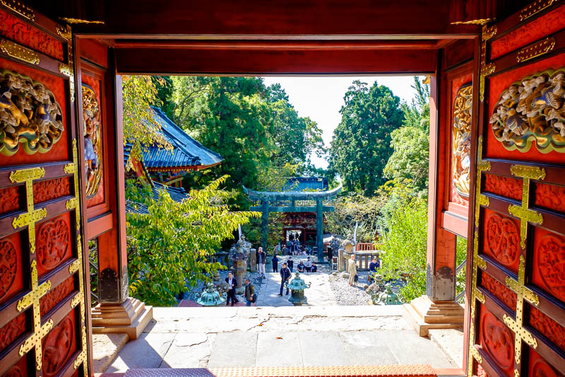 Japan-Shizuoka-Shrine-Kunozan Toshogu-Hiking - Here, have some view. I am shooting directly into the heart of the sun here.