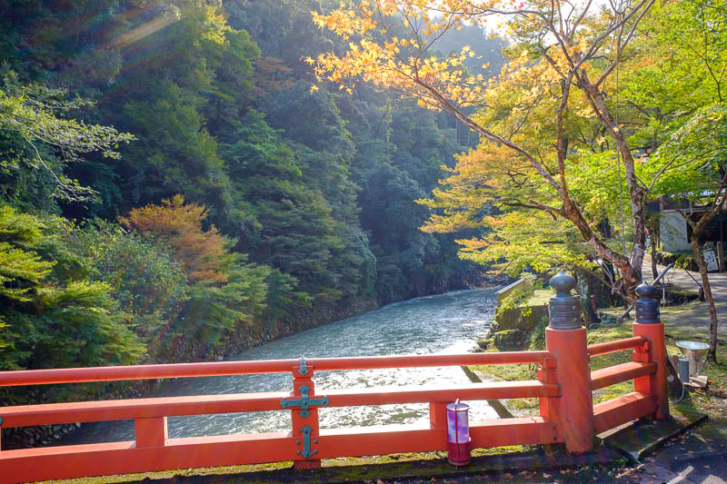 Japan-Kyoto-Hiking-Mount Atago-Arashiyama - There were many red bridges today, at least 4.