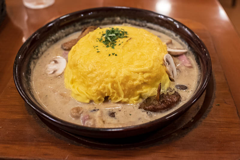 Japan-Tokyo-Ikebukuro-Typhoon-Food-Omurice - Predictably, my dinner is omurice. It still has not really become popular in Australia, which is annoying because I love it. Adelaide had one restaura