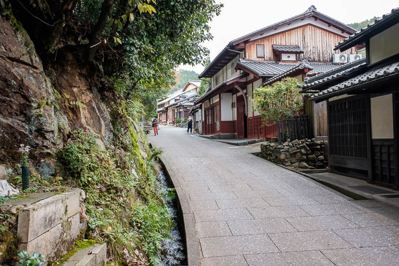 Japan-Kyoto-Hiking-Mount Atago-Arashiyama - Its a mix of businesses and private houses, I think these people are quite wealthy, I saw nice cars in garages.