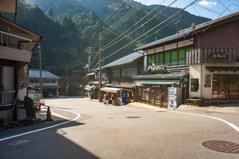 Japan-Kyoto-Kurama-Hiking-Shrine - The streets of Kurama are quite traditional. The light today was absolutely blinding.