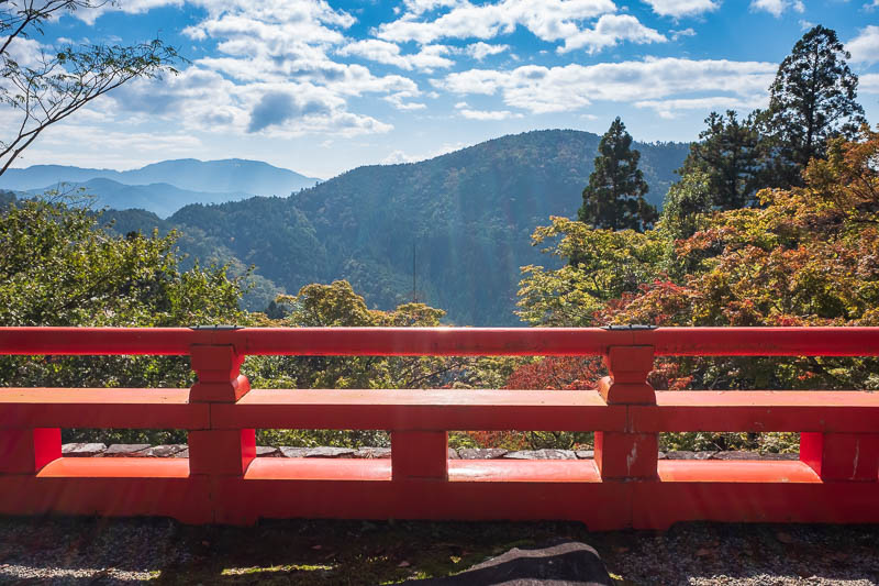 Japan-Kyoto-Kurama-Hiking-Shrine - View from top. Too much sun.