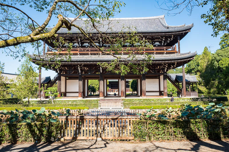 Japan-Kyoto-Osaka-Temple-Shrine - Tofuku-ji. Everything here costs a huge amount of money! To climb up the gate, $10, go inside $10, go in the garden $10, use the bathroom, $5, get you