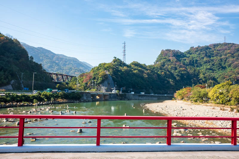 Japan-Hiking-Namaze-Tunnel - Its a shame about the pollution. I also read that the water in this river is very badly polluted, and whatever you do, do not be tempted to go for a s