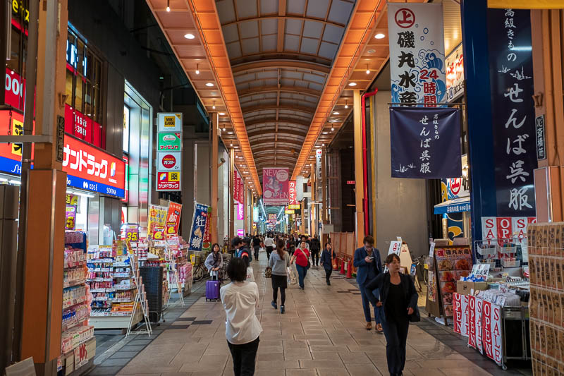 Japan-Osaka-Umeda-Mall-Food - The path to Umeda starts at more covered shopping streets, quieter ones this time.