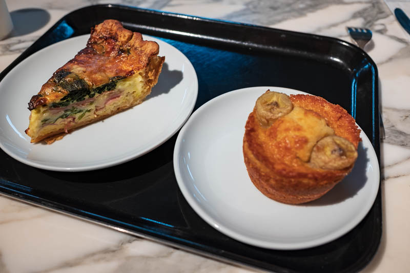 Japan-Osaka-Kobe-Shinsaibashi - I stopped for some quiche, cause I am not a real man. I was the only male in the place, everyone else was a woman passing the time with cake and coffe
