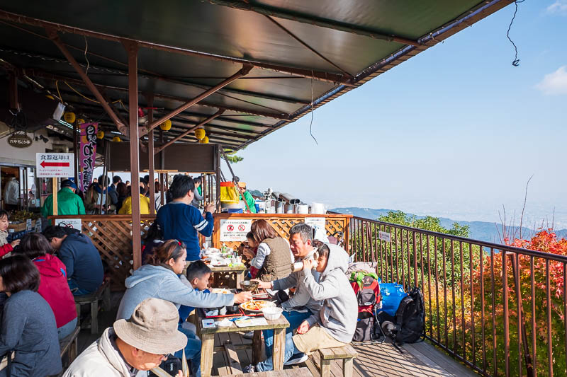 Japan-Kobe-Hiking-Mount Rokko - And now I am at one of the many cable car top stations, where you can have lunch, but I didnt, nowhere to sit, expensive, no time, got to keep moving!
