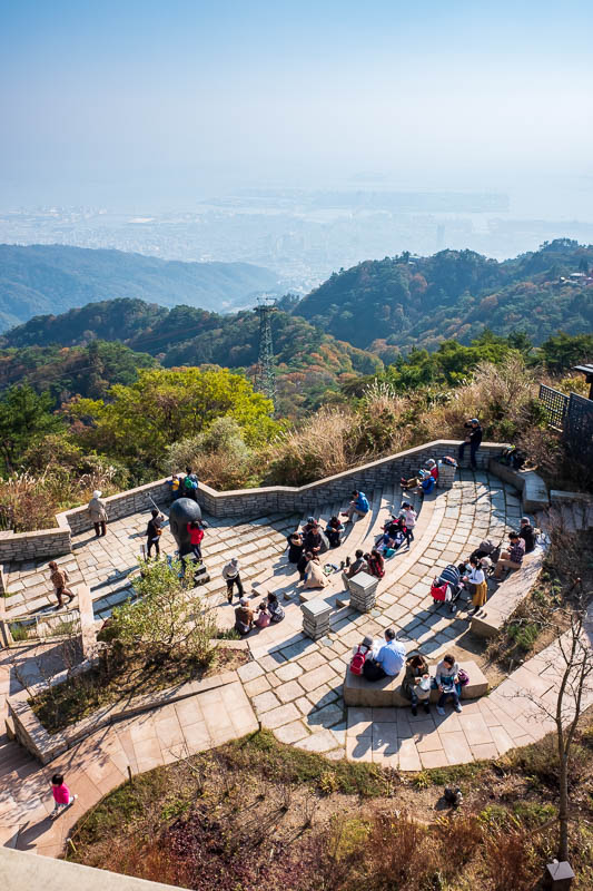 Japan-Kobe-Hiking-Mount Rokko - Some more view, featuring people enjoying the view.
