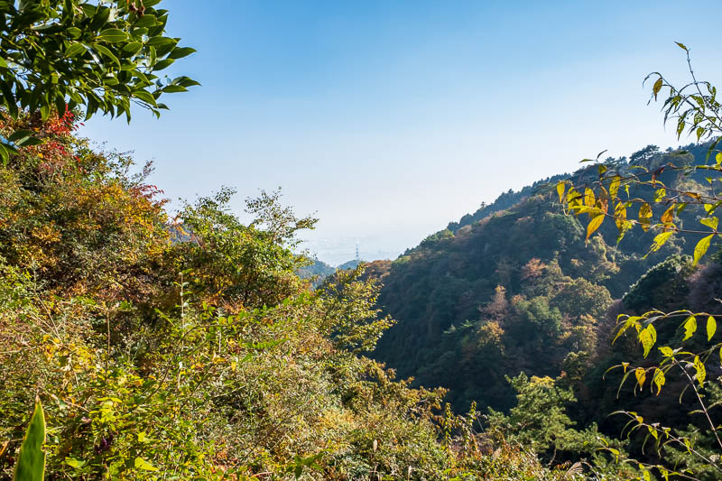 Japan-Kobe-Hiking-Mount Rokko - The crowds thinned completely. I think most hikers took one of the cable cars down. I selected a path down, and had it completely to myself, but it ap