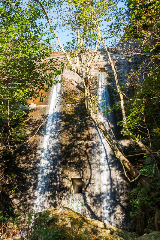 Japan-Kobe-Hiking-Mount Rokko - I kept passing similar flood control artificial waterfalls, at least ten of them.