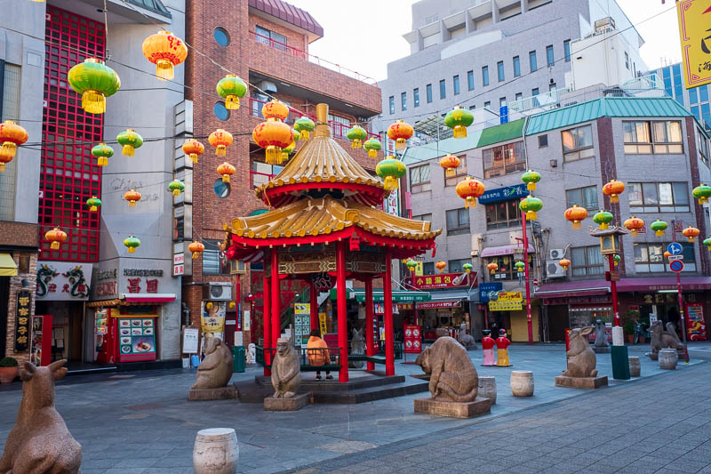 Japan-Kobe-Gifu-China Town-Shinkansen - Almost forgot, I only found the Kobe Chinatown this morning. Quite large, seemed legit. Lots of dumplings and congee for sale for breakfast. I am stay