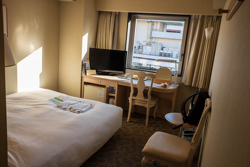 Japan-Kobe-Gifu-China Town-Shinkansen - And heres my room, its very large, I am considering sub letting one of the corners to someone.