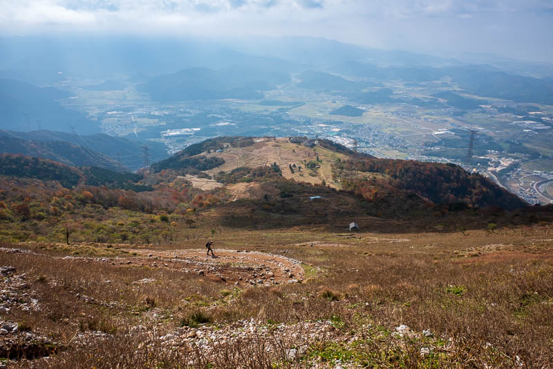Japan-Hiking-Mount Ibuki - Nearly there. Its a lot steeper down than it appears. I always say that.