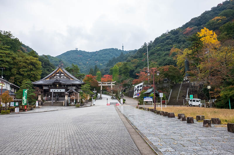 Japan-Gifu-Rain-Fog-Castle-Garden - I took a wrong turn and found myself at this temple complex, with some really nice autumn color, well it would have been on a sunny day.