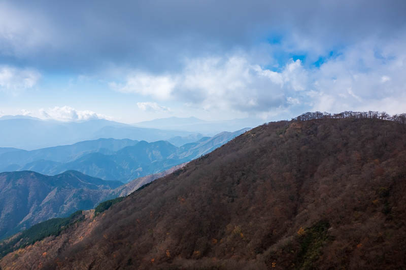 Japan-Hiking-Mount Tanzawa-Shibusawa - A bit more view from this lower down spot. No fuji yet!