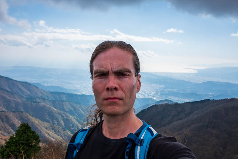 Japan-Hiking-Mount Tanzawa-Shibusawa - First one of these for the day. I am sweating a lot. I went really hard on the way up, passed hundreds of people.