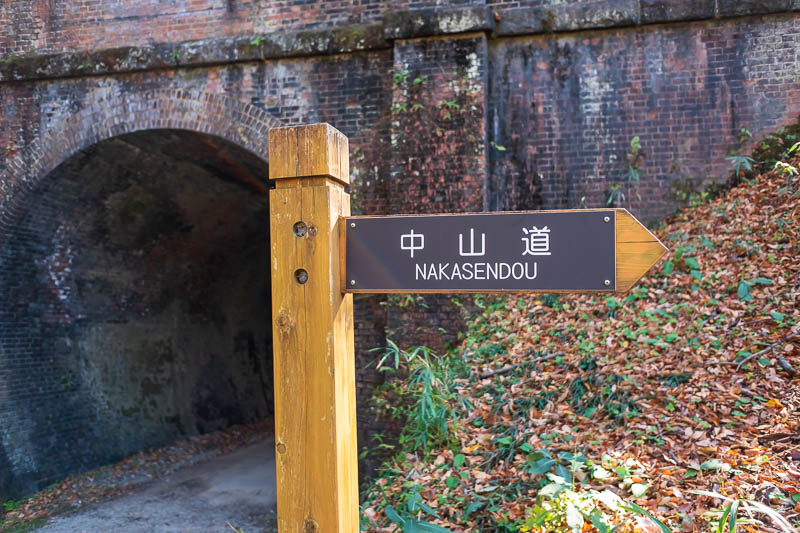 Japan-Nakasendo-Hiking-Karuizawa-Autumn Colors - Ahhh, heres the sign I have been waiting for, the hard part now begins.