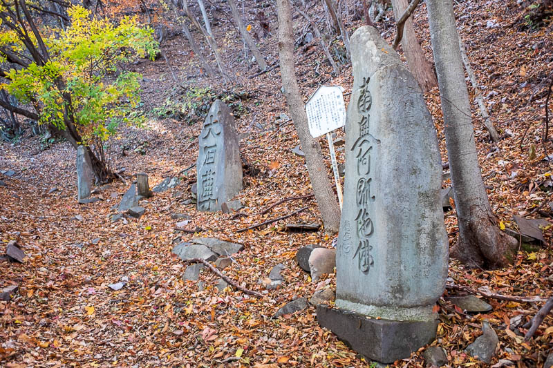 Japan-Nakasendo-Hiking-Karuizawa-Autumn Colors - There were a huge amount of historical markers and ruins along the ancient road. I chose to photograph just this one, so appreciate it.