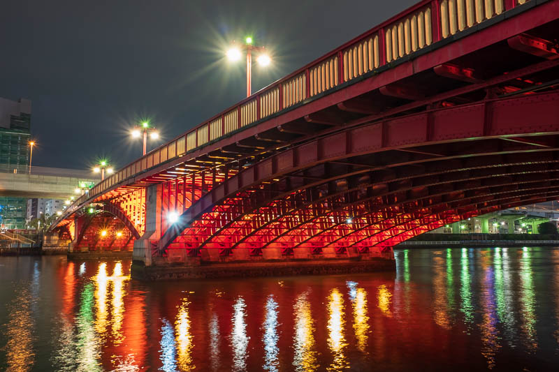 Japan-Tokyo-Asakusa-Skytree-Food - Next a long exposure of a different sort of red bridge.