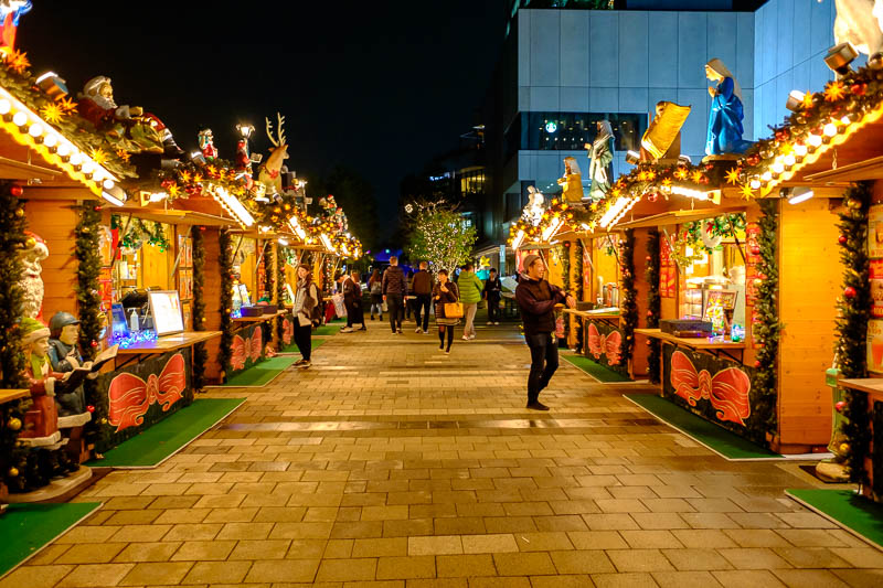Japan-Tokyo-Asakusa-Skytree-Food - On the top level they have a xmas market going on.