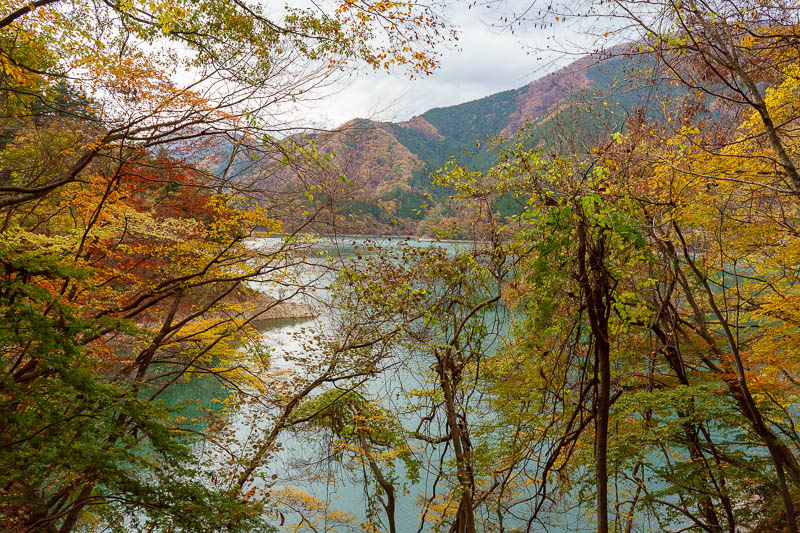 Japan-Okutama-Lake-Hiking - I knew it was 12km from the pontoon bridge back to the dam, at times it didnt look that far, but then you would be sent off down another long arm of t