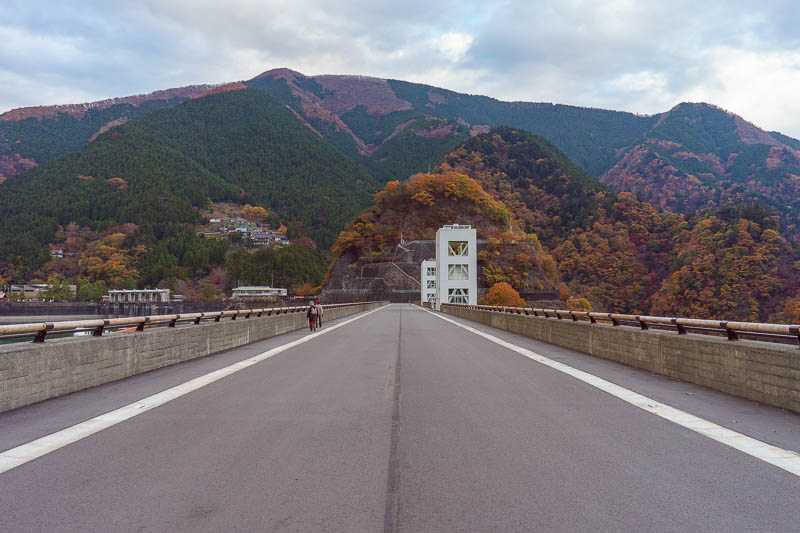 Japan-Okutama-Lake-Hiking - One last chance to stand in the middle of a road.