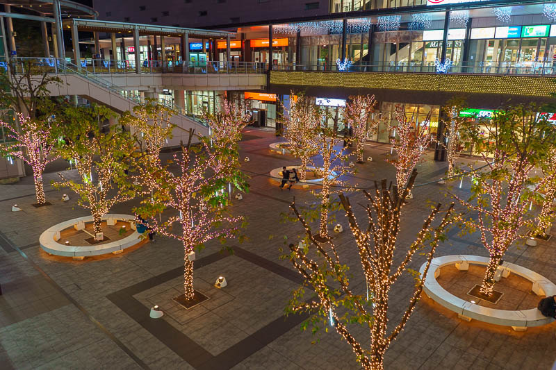 Japan-Tokyo-Hachioji-Food - The far side of the JR station has some illuminations.