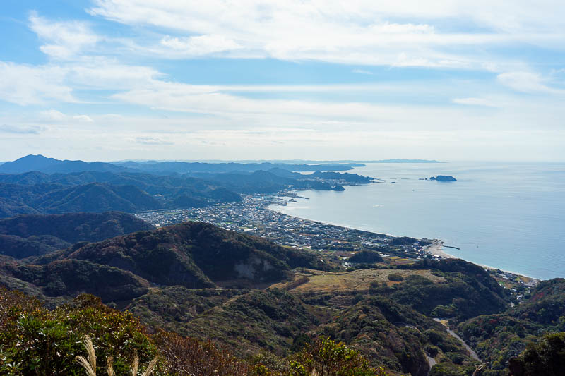 Japan-Chiba-Hiking-Mount Nokogiri - The view down to Tateyama at the foot of the Chiba Peninsula looks very inviting. If only it didnt take so long for the trains to get there. They need