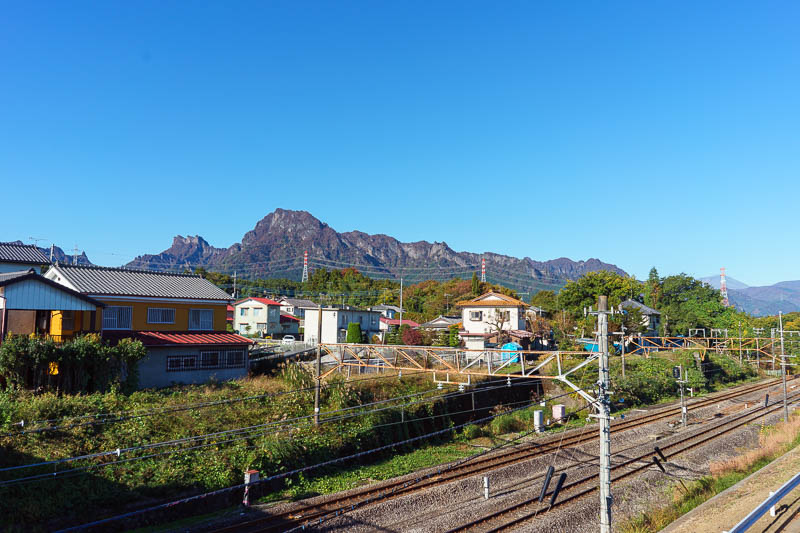 Japan-Gunma-Hiking-Mount Myogi - My journey was a 55 minute shinkansen to Takasaki, which is a large city of 1/2 a million people (who knew?), then the Shinetsu line for about 20 minu