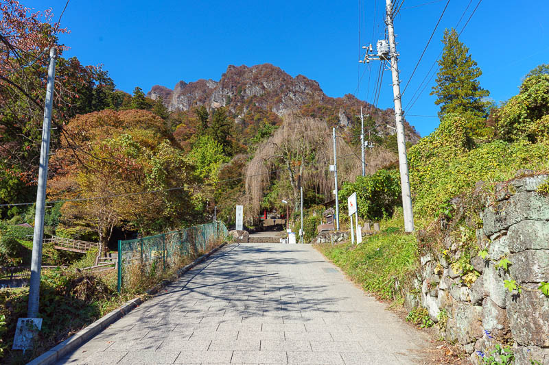 Japan-Gunma-Hiking-Mount Myogi - The path up to the shrine is steep, but nice enough.