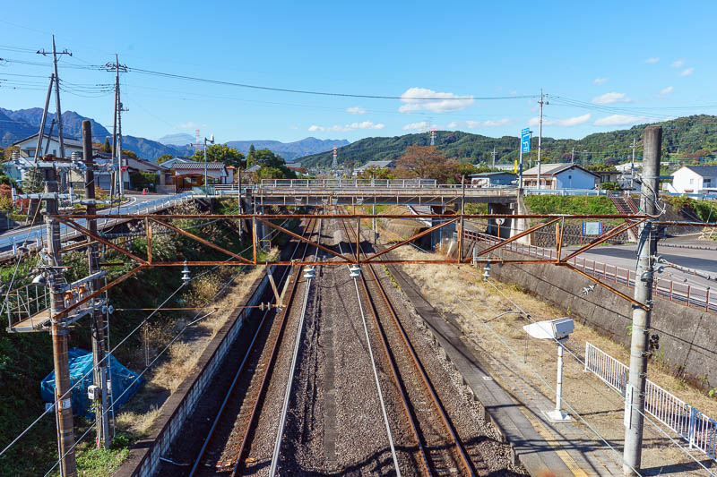 Japan-Gunma-Hiking-Mount Myogi - I ran too fast back to the station and had 20 minutes to kill before the train came, so heres the station, Matsuida, another station that does not hav
