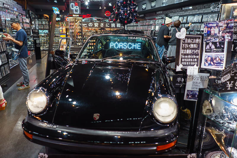 Japan-Okinawa-Naha-Food - Here is another shop dedicated to jewelry, exclusively silver jewelry, which requires a Porsche.