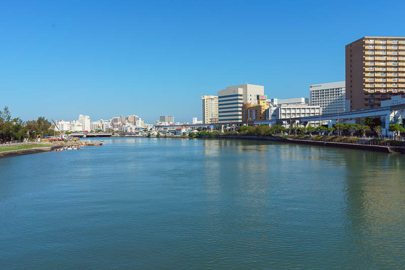 Japan-Okinawa-Naha-Navy - On my journey I had to cross a number of bridges. Enjoy the view. Clear blue skies all morning.