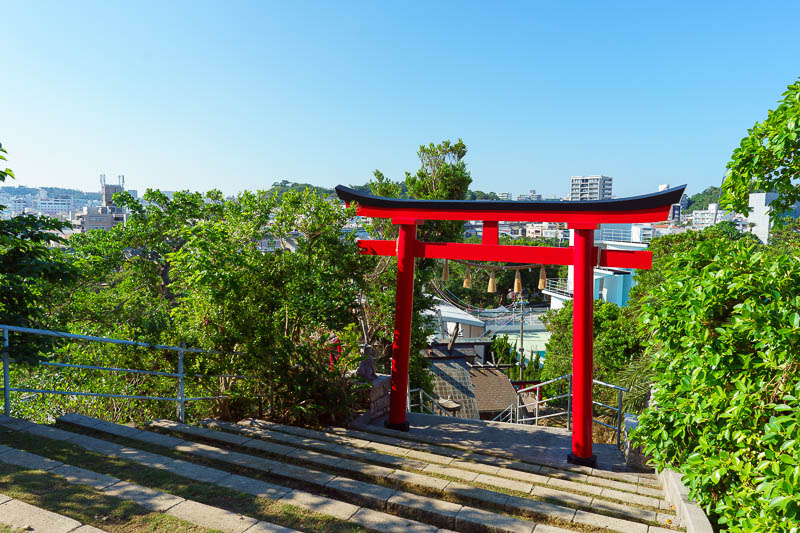 Japan-Okinawa-Naha-Navy - What kind of day would it be without a red torii gate in Japan?