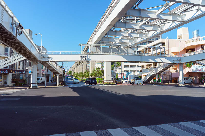 Japan-Okinawa-Naha-Navy - The only 'train' in Okinawa (yes more quotes and brackets too) is the Naha monorail. I like impressive infrastructure.