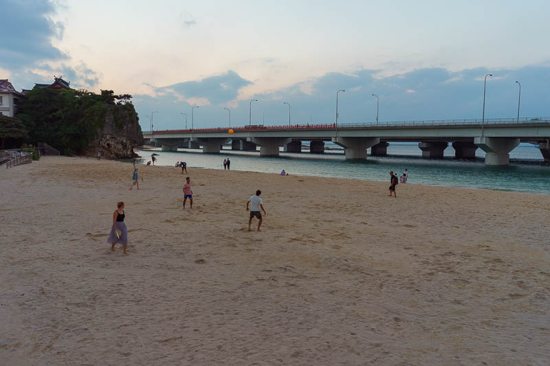 Japan-Okinawa-Naha-Beach - And here we have the beach. So beautiful. So natural. So freeway. The so (x) joke is worn out. I dont care.
