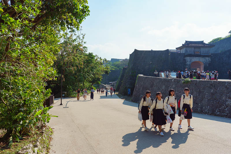 Japan-Okinawa-Naha-Castle - Castles and shopping centres