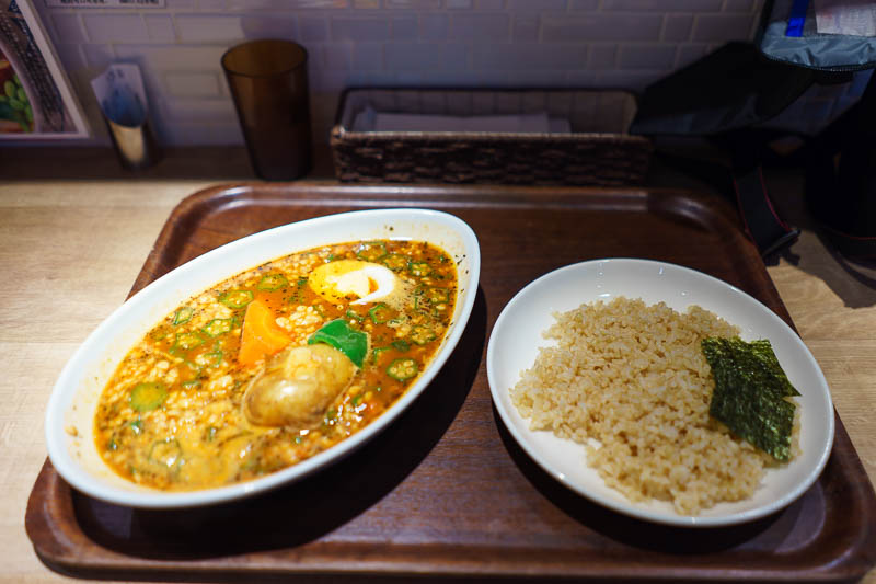 Japan-Tokyo-Akihabara-Curry - Now that the location decision was made, I still had to decide on which mini restaurant I would eat at, that turned out to be easy, SOUP CURRY! I sele