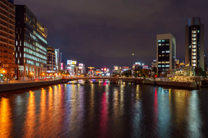 Japan-Fukuoka-Tenjin-Food - Another night, another canal shot. This is a different canal to last night, but its still looking towards canal city. All canals meet at the canal cit