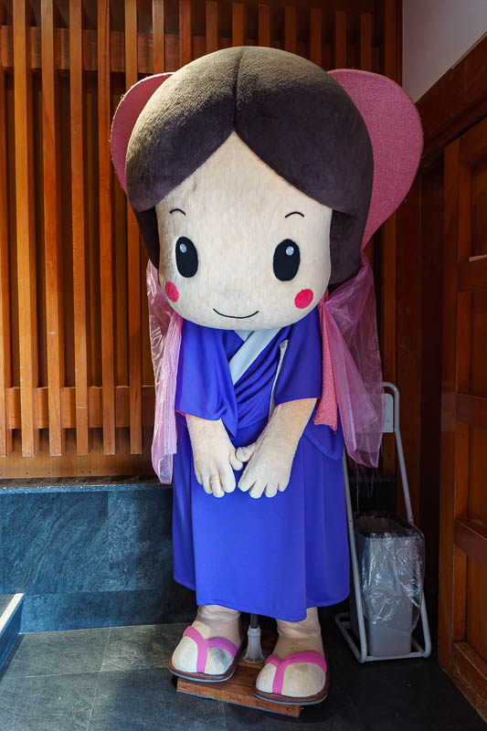Japan-Karatsu-Castle-Hiking - One last anime character to wave goodbye as I left the castle.