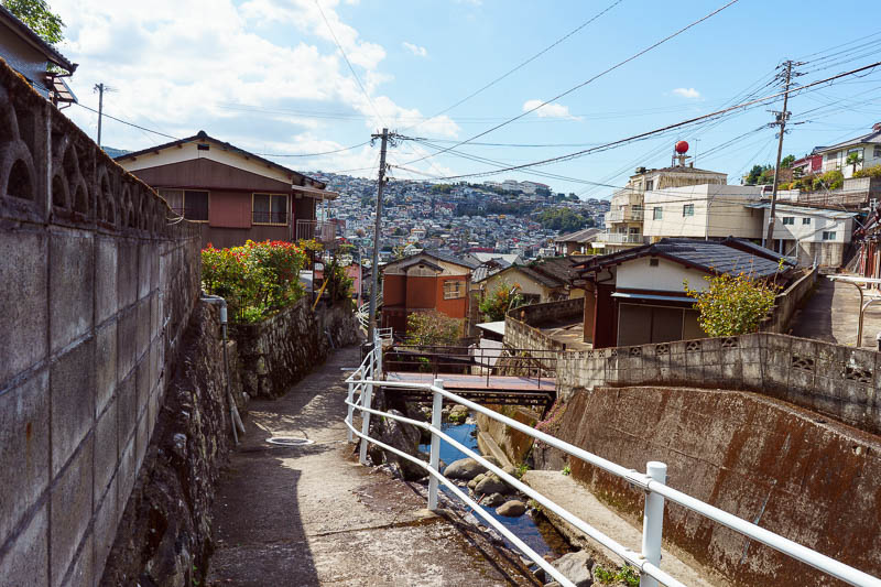 Japan-Nagasaki-Hiking-View - A good bet is to follow the drain, thats normally a path that doesnt end suddenly.