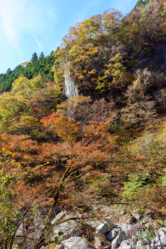 Japan-Tokyo-Hiking-Mount Kawanori - There were also sheer cliff faces as shown here, and a number of waterfalls.