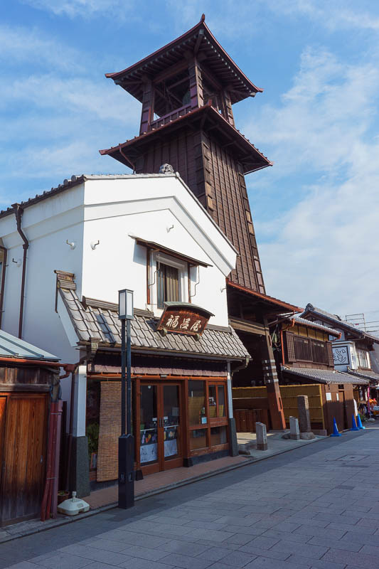 Japan-Tokyo-Kawagoe-Museum - A bit more bell tower and blue sky. I was checking the weather radar, I want blue sky tomorrow not today!