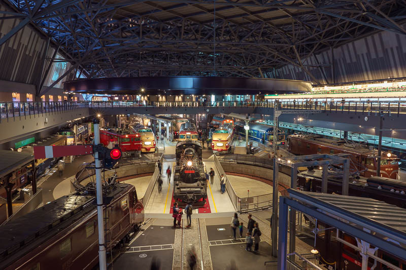 Japan-Tokyo-Kawagoe-Museum - The main hall is very impressive, packed with trains, this is not even all of them.